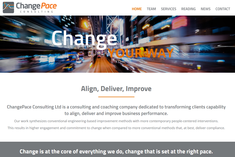 changepace constulting website new